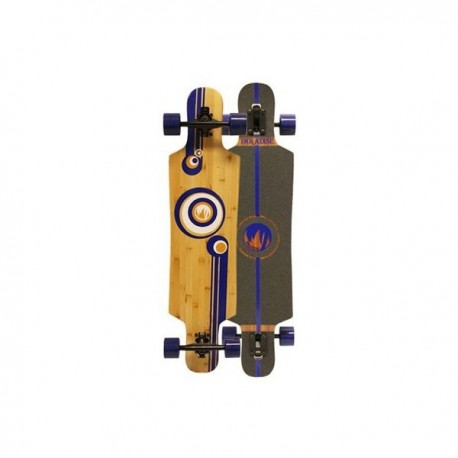 Paradise Bubbles Drop Through Bamboo komplettes Longboard